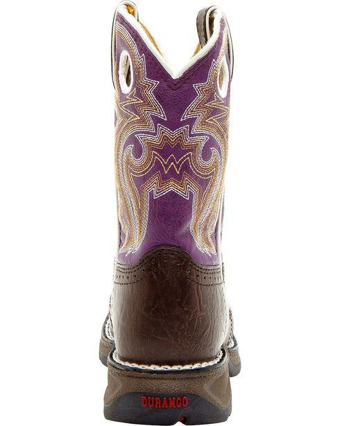 Durango Girl's Western Boots, Dark Brown, hi-res
