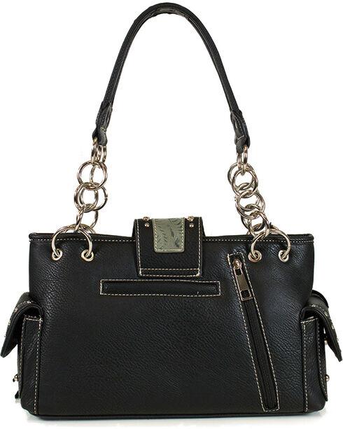 Savana Women's Embossed and Fringe Trimmed Shoulder Bag, Multi, hi-res