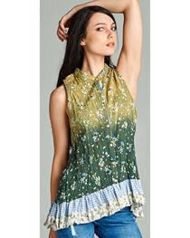 Hyku Women's Ombre Print Sleeveless Top, , hi-res