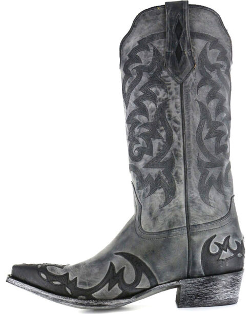 Moonshine Spirit Men's Snip Toe Western Boots, Black, hi-res