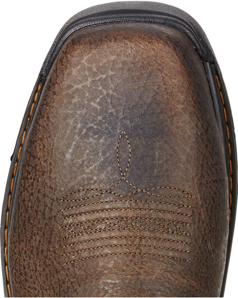 Ariat Men's Intrepid VentTEK Comp Toe Pull-On Safety Work Boots, Brown, hi-res