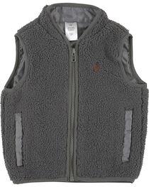 Wrangler Infant Boys' Grey Sherpa Vest , , hi-res