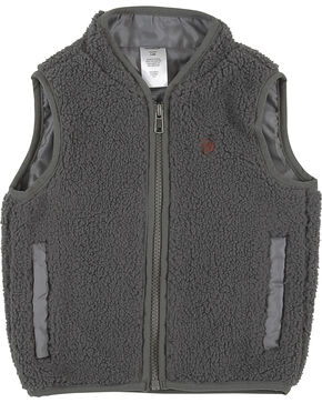 Wrangler Infant Boys' Grey Sherpa Vest , Grey, hi-res