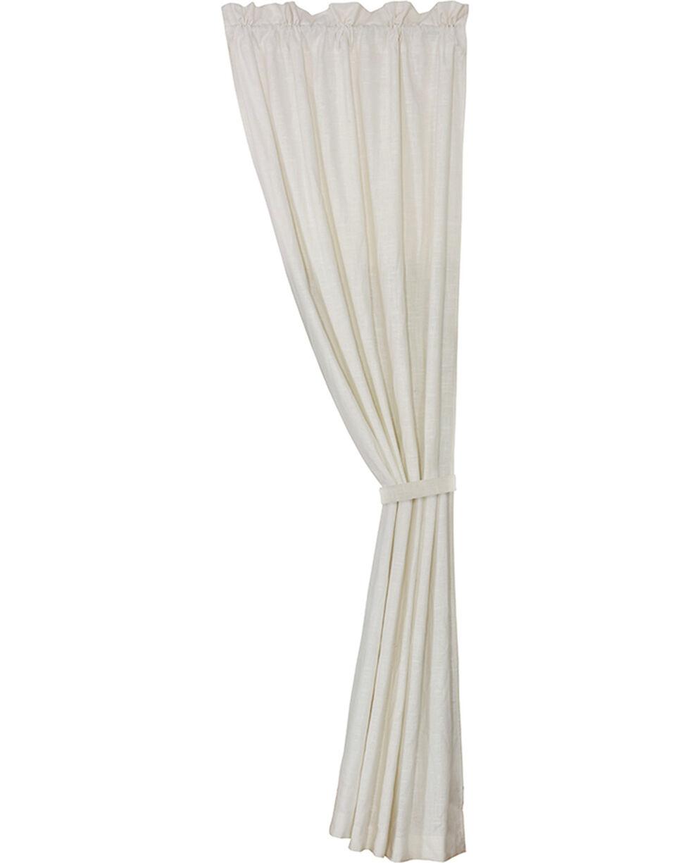 HiEnd Accents Newport White Linen Curtain, White, hi-res