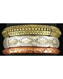 Blazin Roxx Women's 3 Piece Tribal Stretch Bracelet , , hi-res