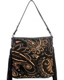 Montana West Western Aztec Collection Black Handbag, , hi-res