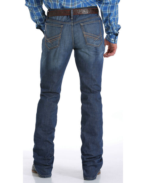 Cinch Men's Dark Wash Boot Cut Jeans, Indigo, hi-res