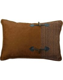 HiEnd Accents Crestwood Buckle Accent Pillow, , hi-res