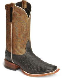 Nocona Men's Full Quill Ostrich Exotic Boots, , hi-res