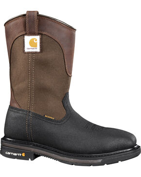 Carhartt Men's Wellington Work Boots - Steel Toe, Black, hi-res