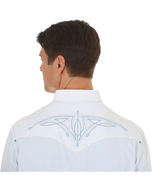 Wrangler Rock 47 Men's White Embroidered Long Sleeve Snap Shirt, White, hi-res