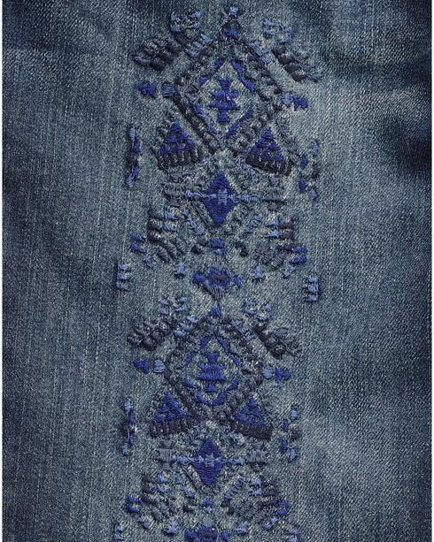 Wrangler Women's Indigo Tribal Print Jeans - Skinny , Indigo, hi-res