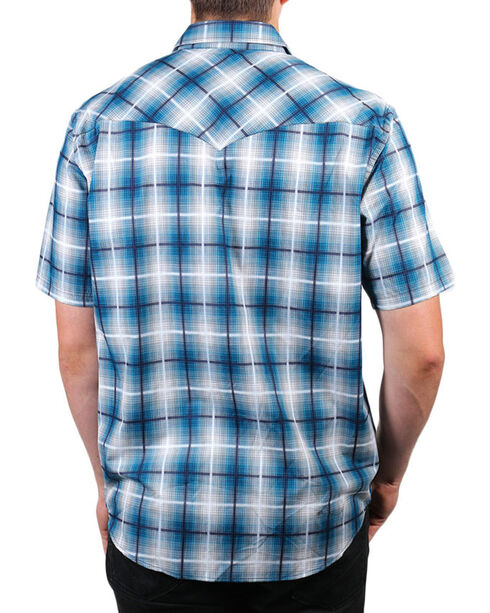 Pendleton Men's Plaid Short Sleeve Shirt, Turquoise, hi-res