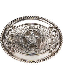 "AndWest ""Texas Ranger"" Silver Plate Belt Buckle , , hi-res"