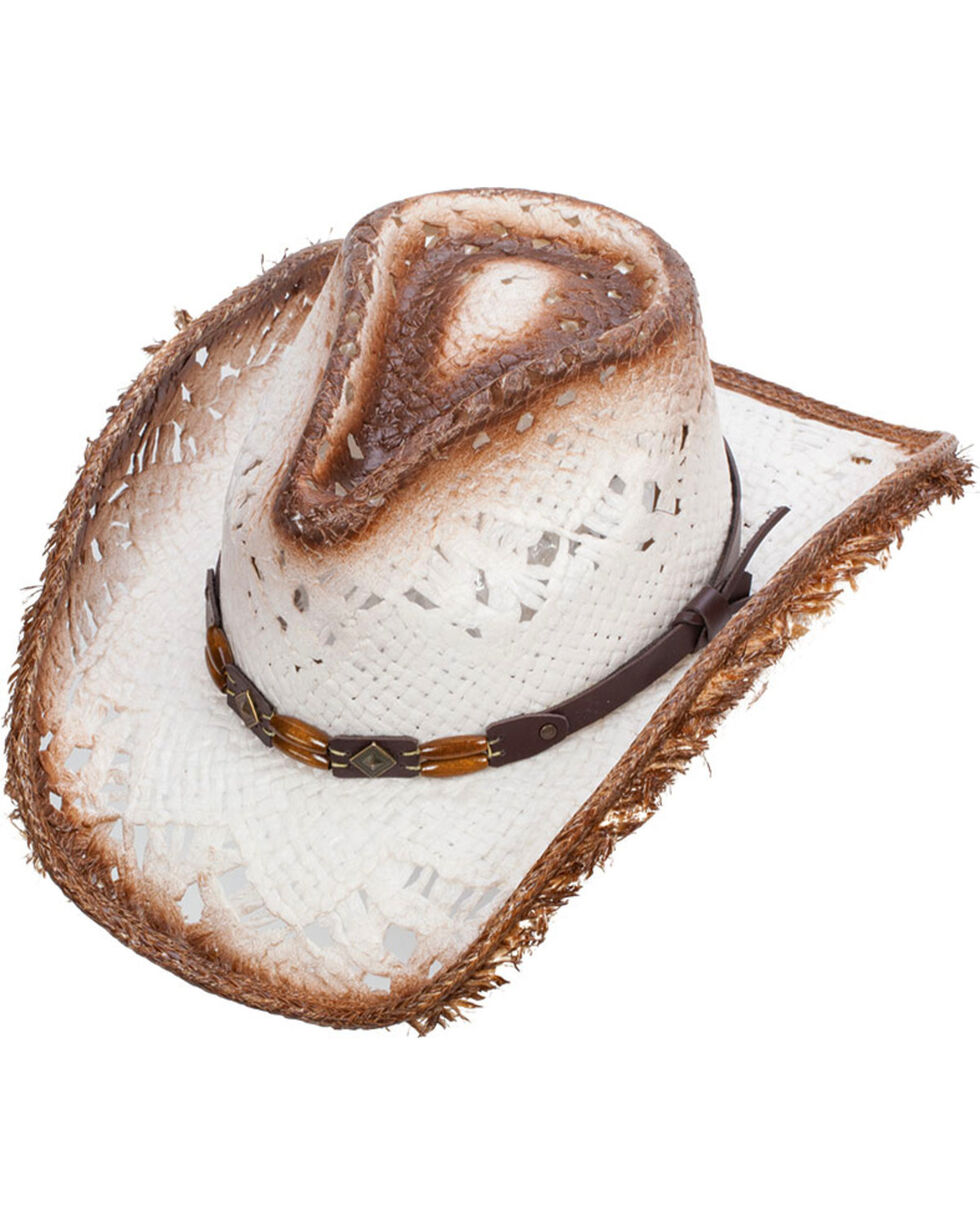 Western Express Women's White Stover Straw Hat , White, hi-res
