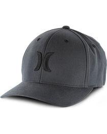 Hurley Men's Grey Logo Snapback Baseball Cap , Grey, hi-res