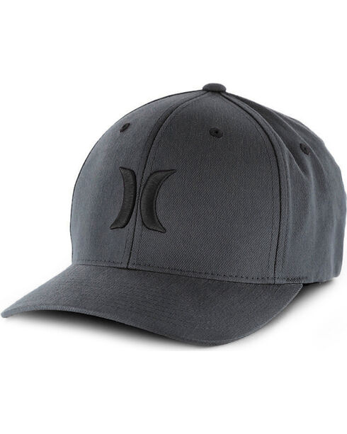 Hurley Men's Grey Logo Snapback Baseball Cap , Grey, hi-res