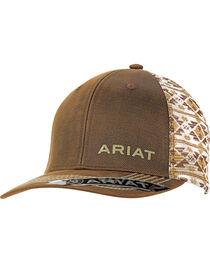 Ariat Men's Oil Skin Aztec Mesh Back Cap, , hi-res