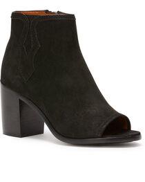 Frye Women's Black Danica Peep Booties - Round Toe , , hi-res