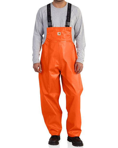 Carhartt Men's Orange Belfast Bib Overalls - Big & Tall, Orange, hi-res