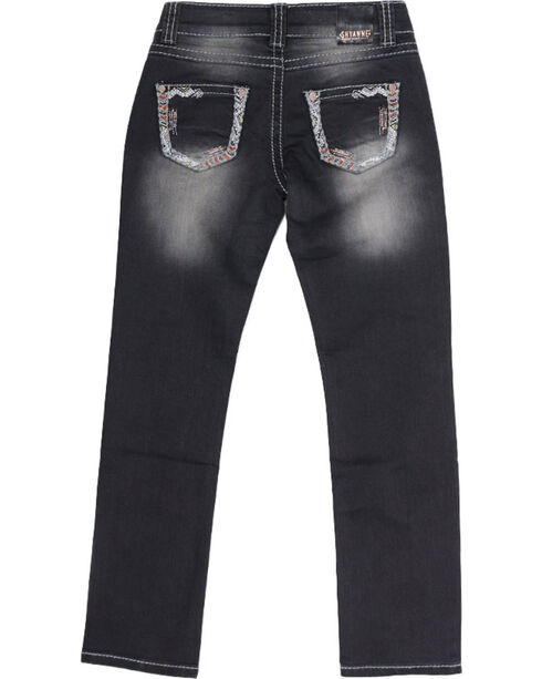 Shyanne Girl's Low Rise Straight Skinny Jeans, Blue, hi-res