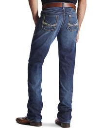 Ariat Men's M2 Strongman Low Rise Boot Cut Jeans, Denim, hi-res