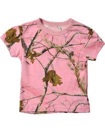 Infant Girls' Pink Realtree Tee, , hi-res
