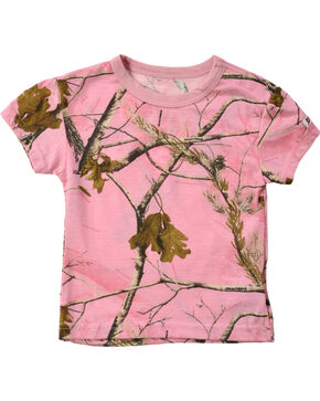 Infant Girls' Pink Realtree Tee, Pink, hi-res