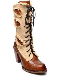Oak Tree Farms Women's Tan Alice Lace Up Boots, , hi-res