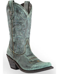 Liberty Black Women's Vintage Azul Western Cowgirl Boots - Pointed Toe , , hi-res