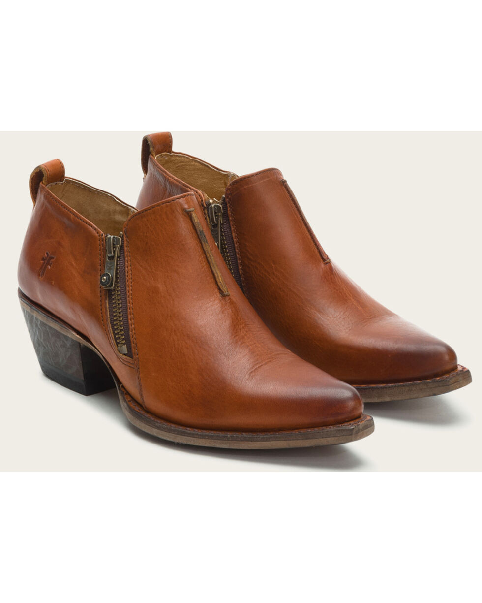 Frye Women's Cognac Sacha Moto Shooties - Pointed Toe , Cognac, hi-res