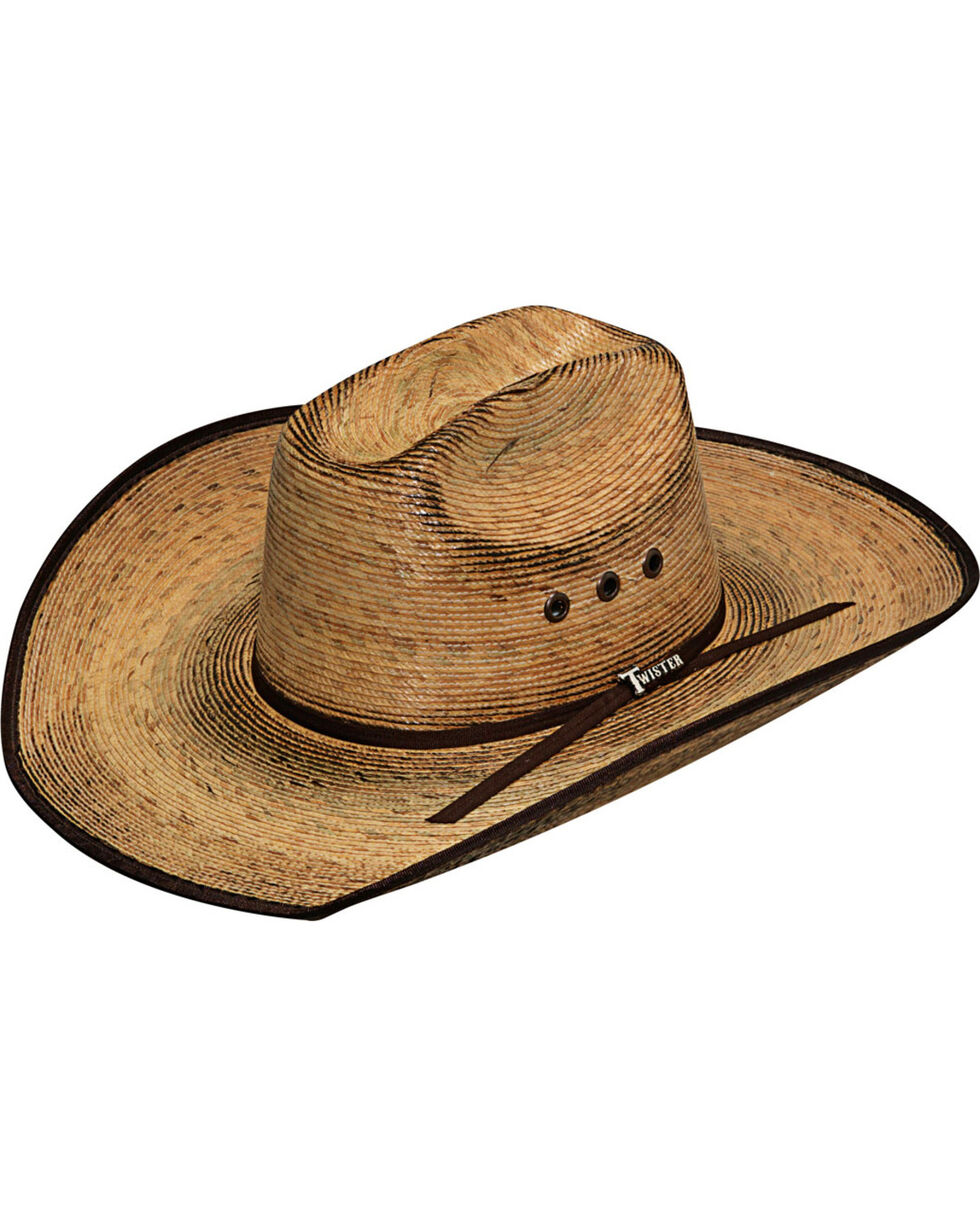 Twister Men's Dark Brown Fired Palm Hat , Dark Brown, hi-res