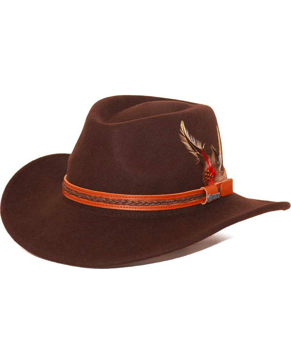 Outback Unisex Water Resistant UPF Tassy Crusher High Country Hat, Chocolate, hi-res