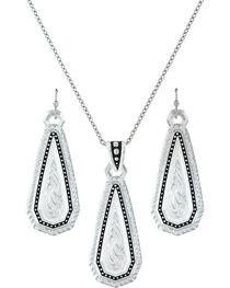 Montana Silversmiths A Fine Stitch Shard Jewelry Set  , , hi-res