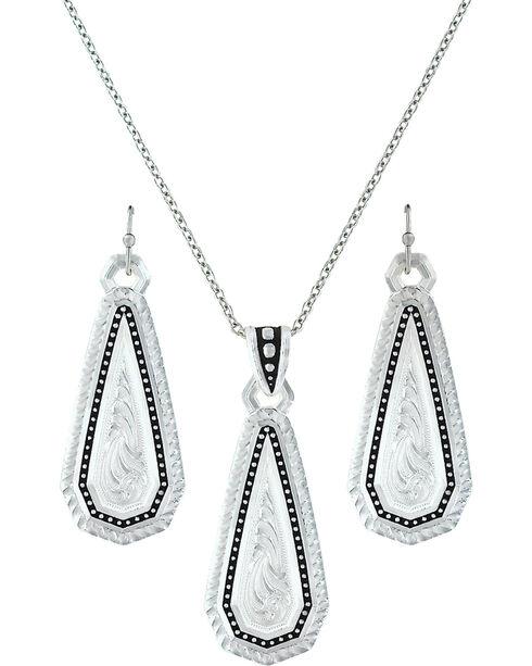 Montana Silversmiths A Fine Stitch Shard Jewelry Set  , Silver, hi-res