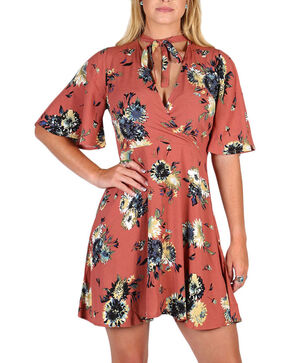 Black Swan Women's Madeline Floral Dress, Brown, hi-res