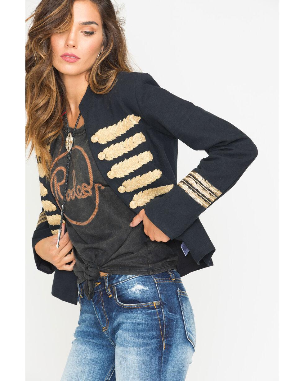 MM Vintage Women's Black Majorette Embroidered Jacket , Black, hi-res