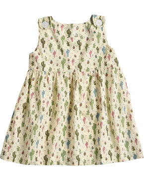 Wrangler Infant Girls' Cactus Print Dress , Natural, hi-res