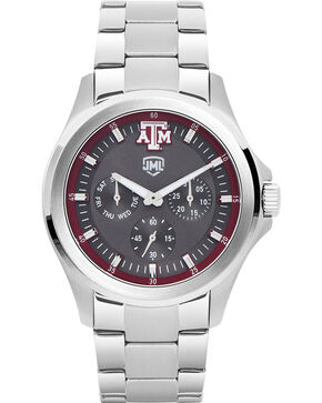 Jack Mason Men's Texas A&M Silver Multi-Functional Watch , Silver, hi-res