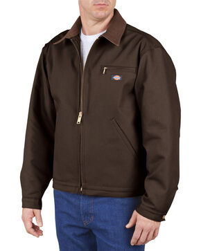 Dickies Blanket Lined Duck Jacket - Big & Tall, Chocolate, hi-res