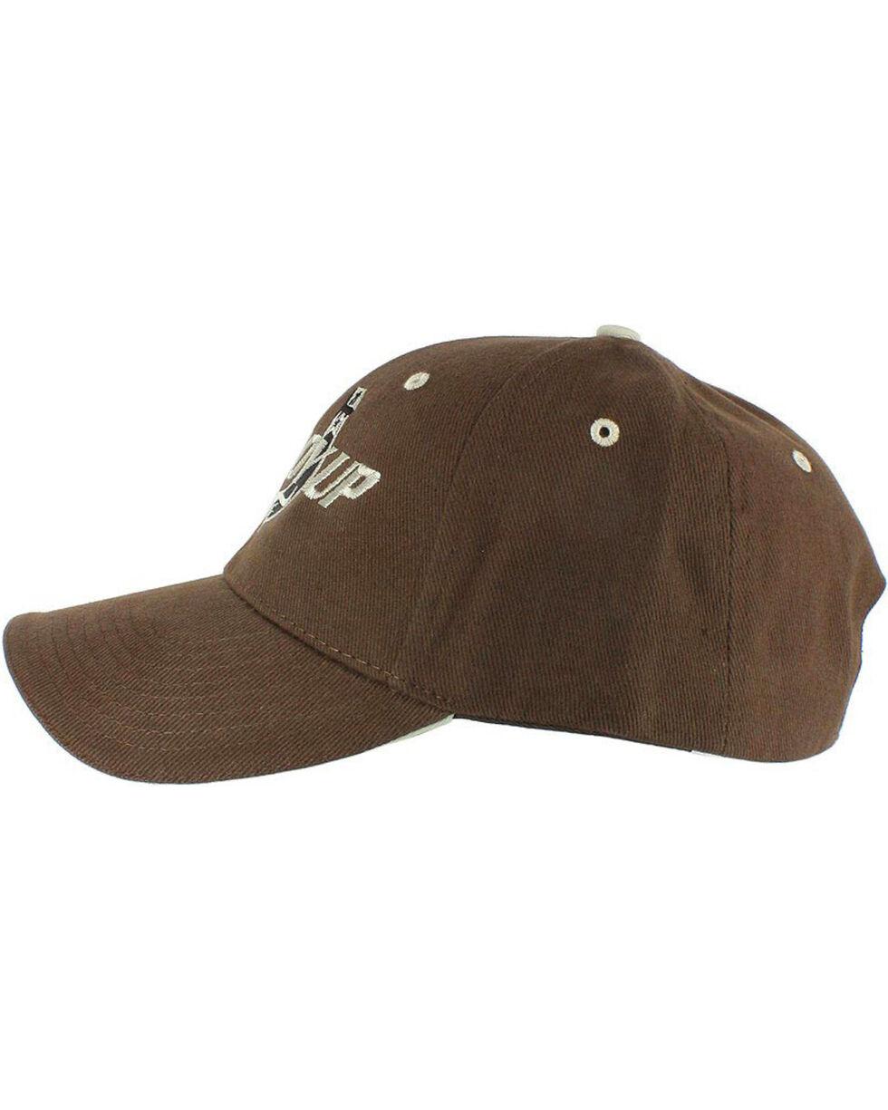 Cowboy Up Men's Embroidered Ball Cap, Brown, hi-res
