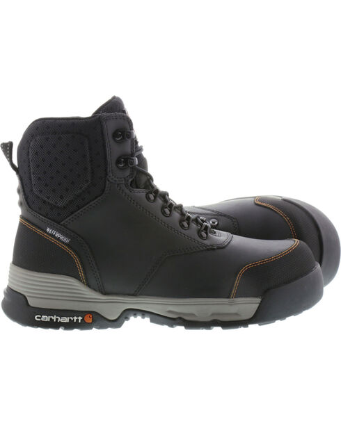 "Carhartt Force Men's 6"" H2O Black Work Boots - Comp Toe, Black, hi-res"