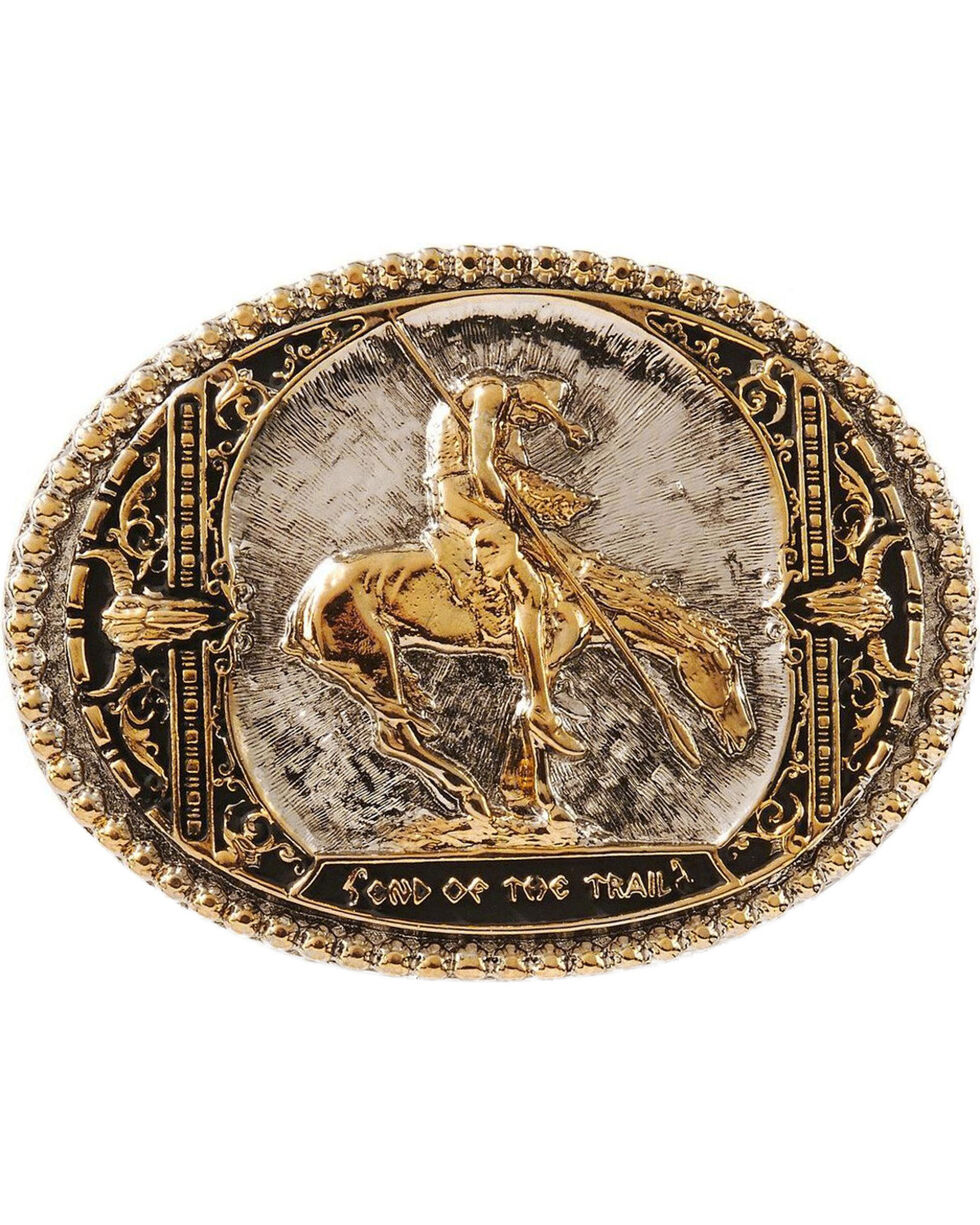 Montana Silversmiths End of Trail Belt Buckle, Silver, hi-res