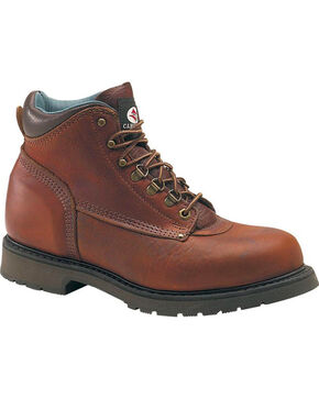 "Carolina Men's Domestic 6"" Steel Toe Work Boots, Brown, hi-res"