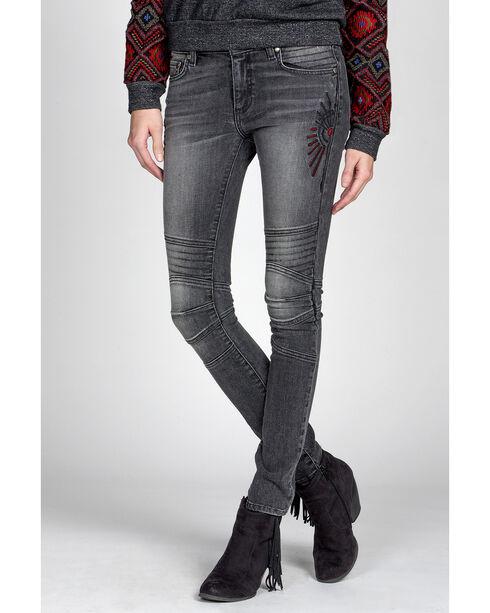 MM Vintage Black Kate Biker Jeans - Skinny Leg, Black, hi-res