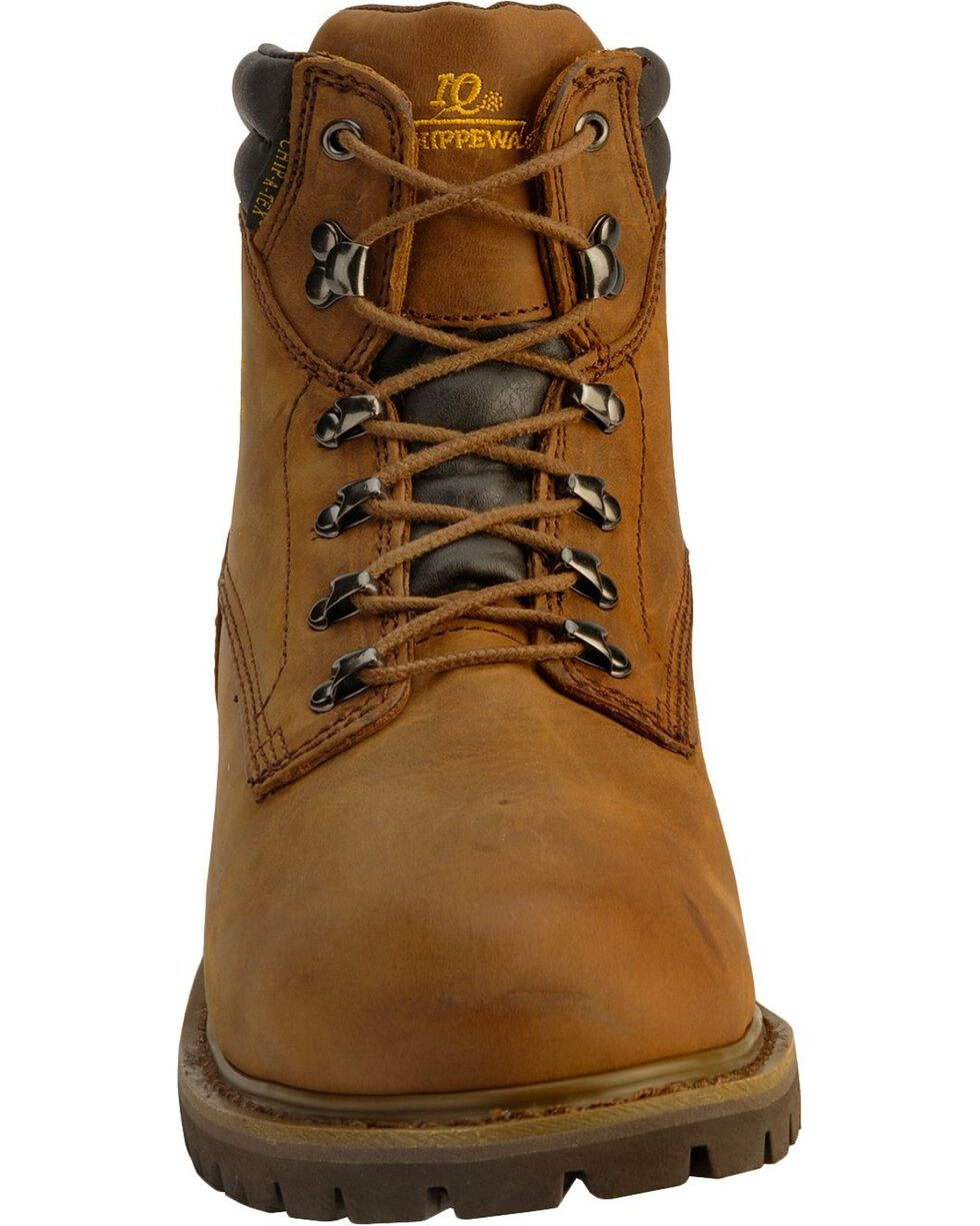 """Chippewa Men's Industrial Insulated 6"""" Waterproof Lace Up Work Boots, Bark, hi-res"""