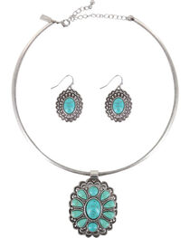 Shyanne® Women's Turquoise Filigree Jewelry Set, , hi-res