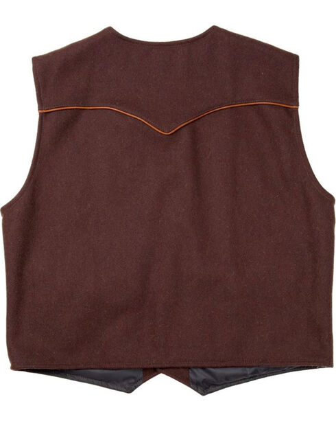 Schaefer Outfitter Men's Chocolate Stockman Melton Wool Vest - 2XLT, Chocolate, hi-res