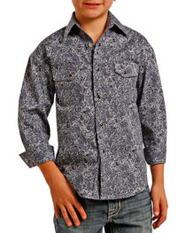 Panhandle Boys' Paisley Printed Long Sleeve Shirt, , hi-res