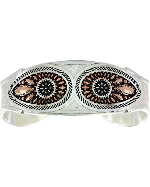 Montana Silversmiths Women's Sunset Prairie Clover Cuff Bracelet, Silver, hi-res